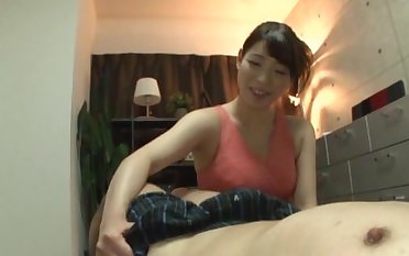 Quickie having it away on be passed on floor with a natural boobs Asian girl