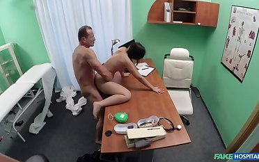 Sombre haired student wants cock