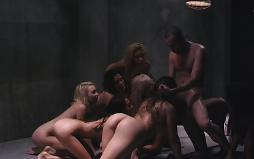 Incredible group sex with naughty Carmen Caliente together with friends