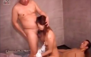 Naughty Japanese Lady's maid Fucked By Two Dudes