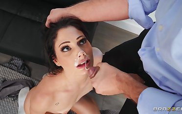 Secretary Nella Jones blows her boss and gets fucked concerning tight ass