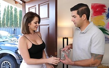Sexy housewife Emily Addison gets pounded