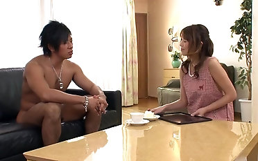 Red-hot japanese mother toyed during her highly highly first creampie doggy tear up