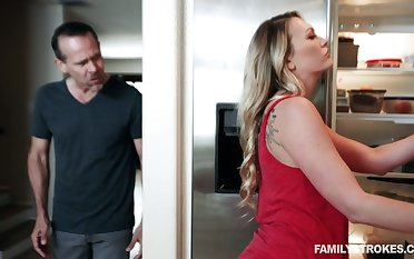 Dude fucks bootylicious stepdaughter Adira Allure ahead of time immobile tie the knot